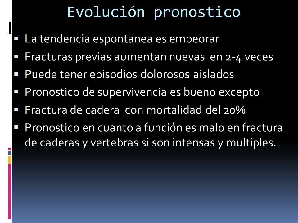 Evolución pronostico La tendencia espontanea es empeorar