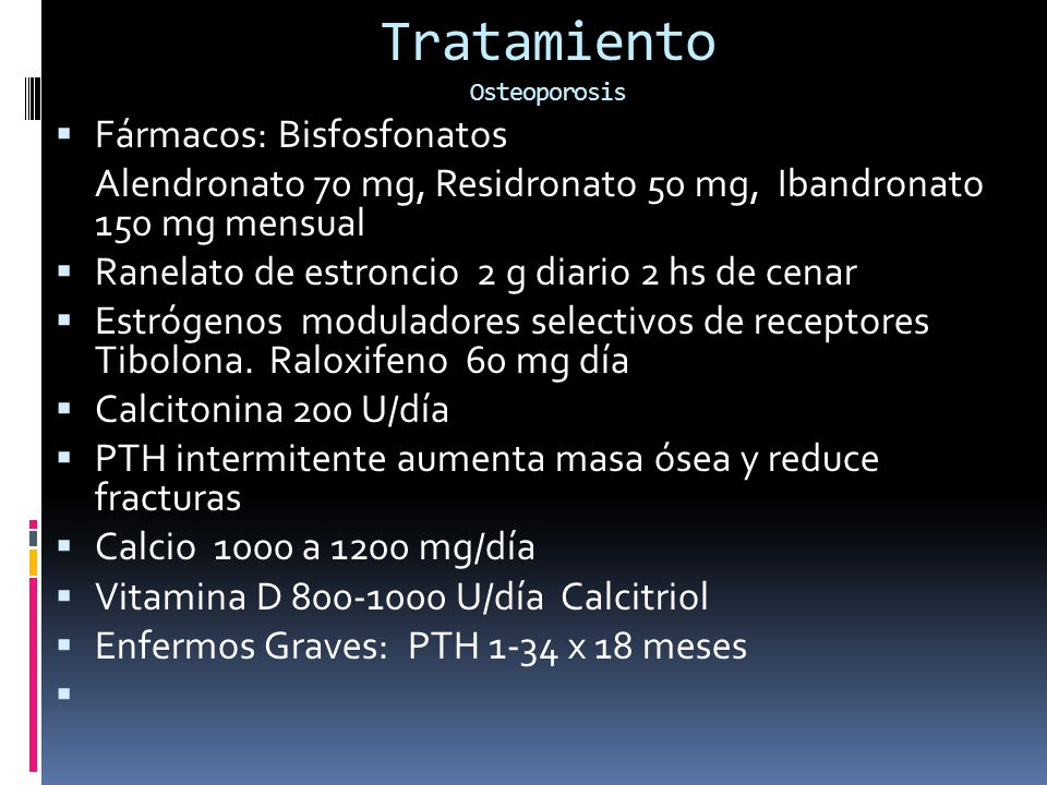 Tratamiento Osteoporosis
