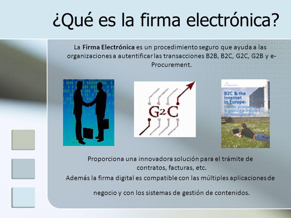 ¿Qué es la firma electrónica