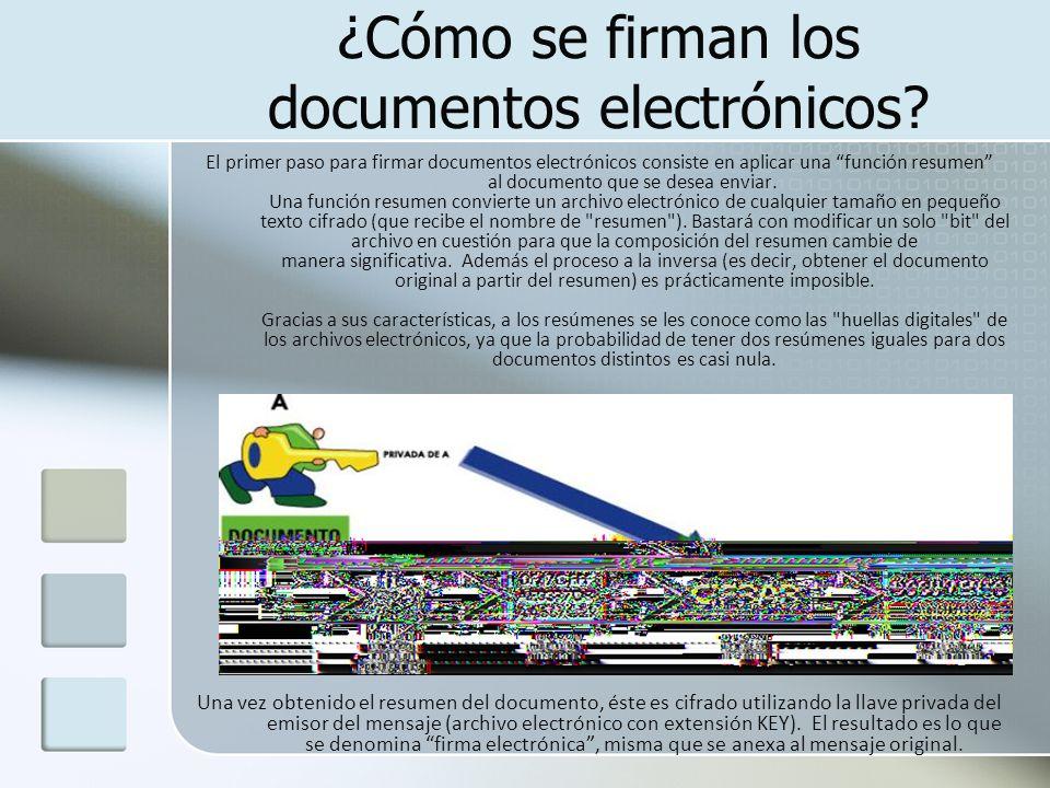 ¿Cómo se firman los documentos electrónicos
