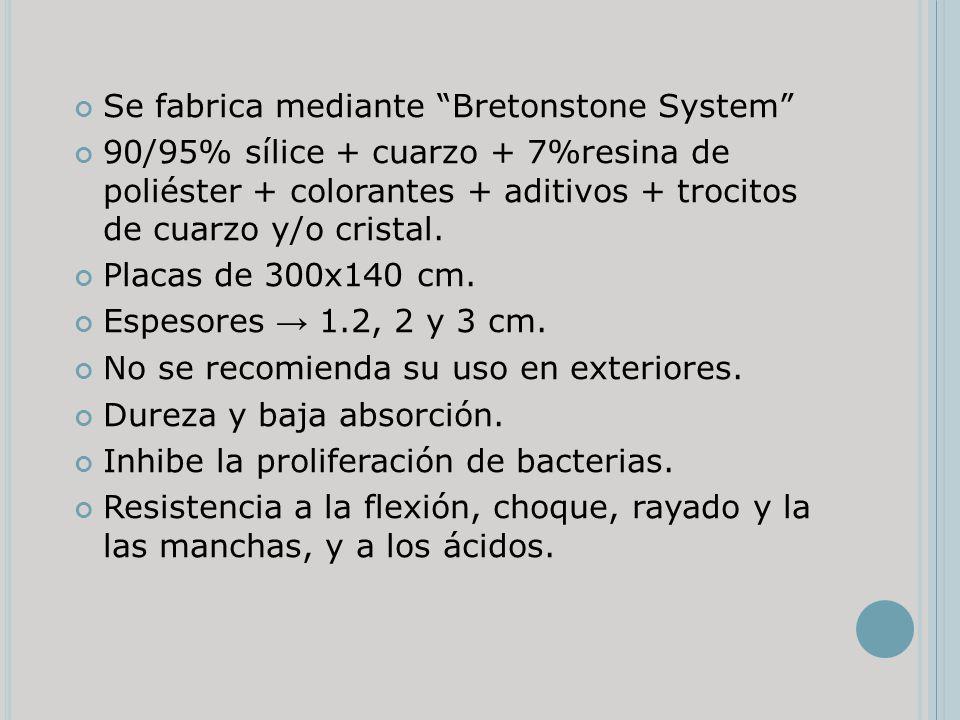 Se fabrica mediante Bretonstone System