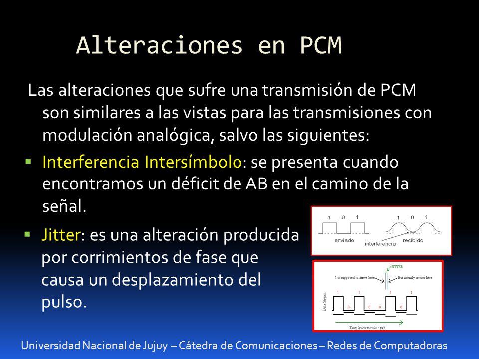 Alteraciones en PCM