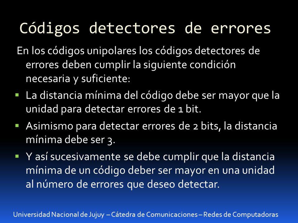 Códigos detectores de errores