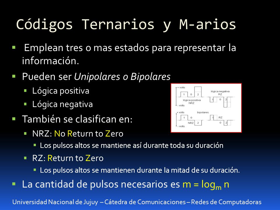 Códigos Ternarios y M-arios