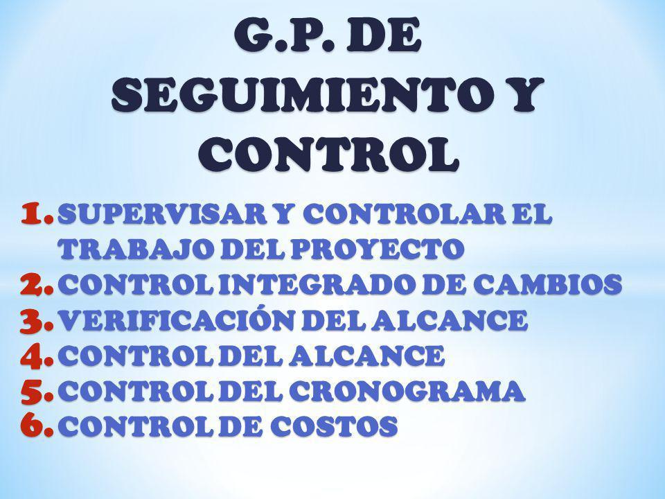 G.P. DE SEGUIMIENTO Y CONTROL