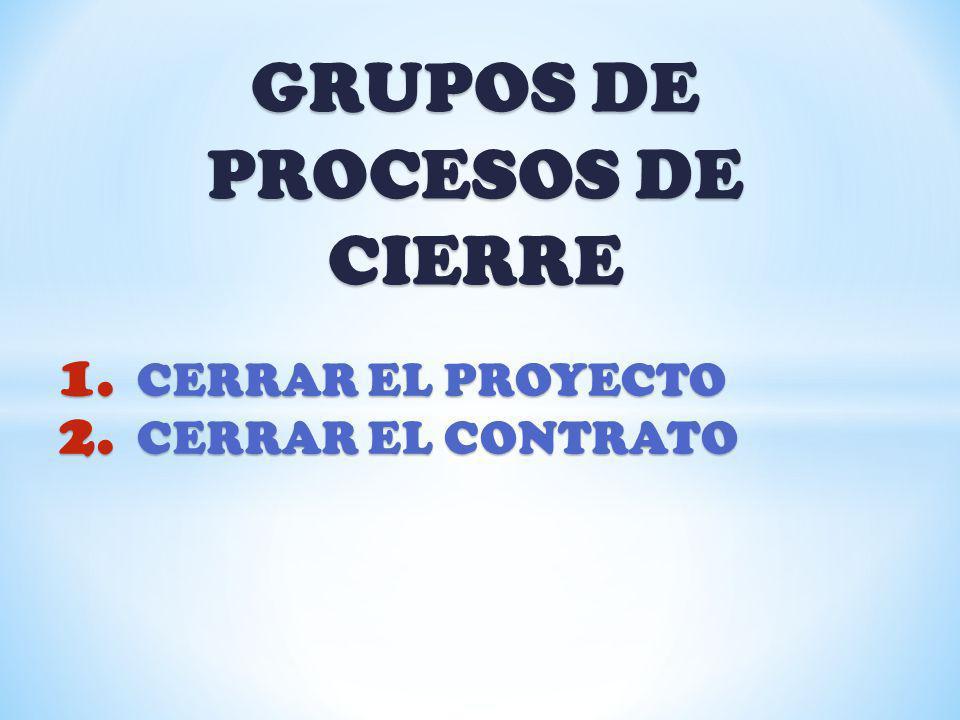 GRUPOS DE PROCESOS DE CIERRE