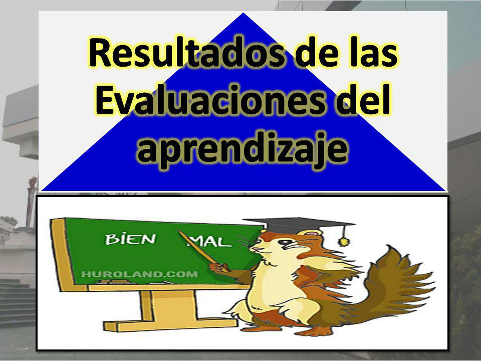 Resultados de las Evaluaciones del aprendizaje