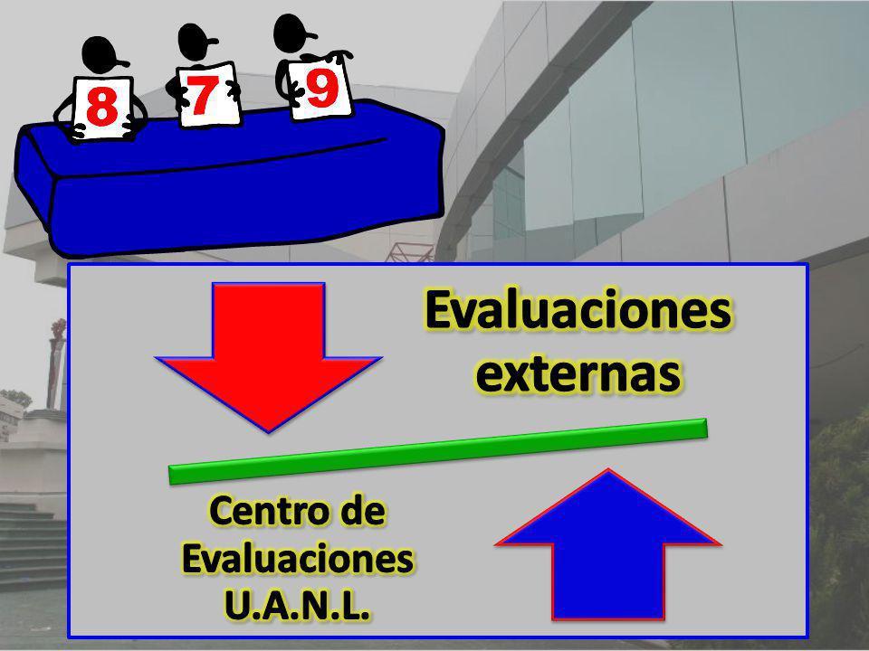 Evaluaciones externas Centro de Evaluaciones U.A.N.L.