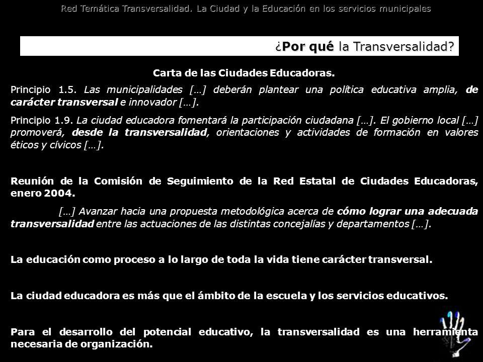 Carta de las Ciudades Educadoras.