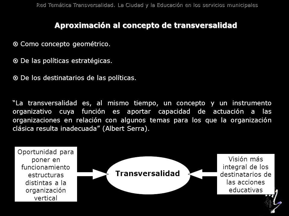 Aproximación al concepto de transversalidad