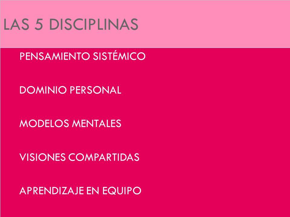 LAS 5 DISCIPLINAS PENSAMIENTO SISTÉMICO DOMINIO PERSONAL