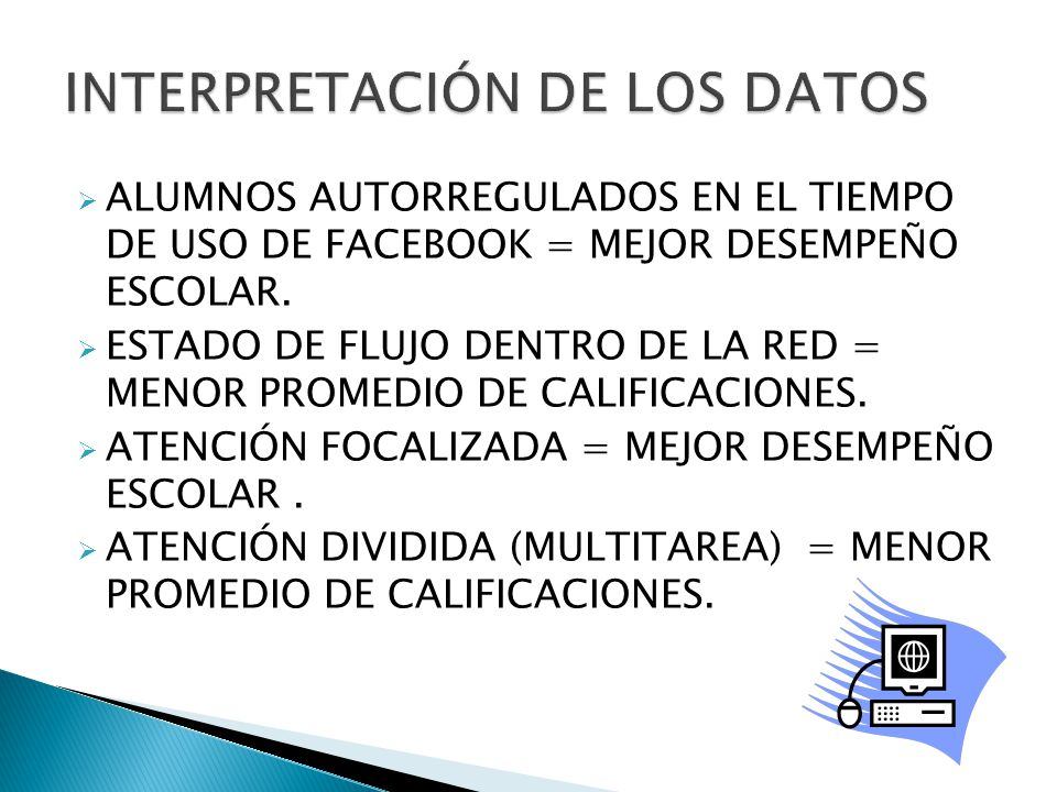 INTERPRETACIÓN DE LOS DATOS