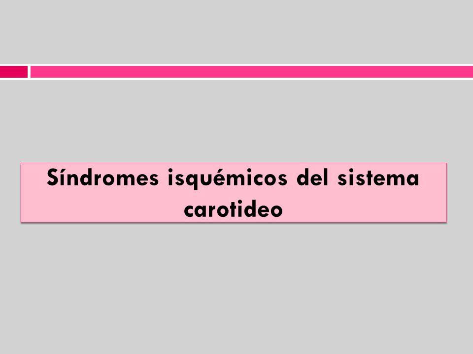 Síndromes isquémicos del sistema carotideo