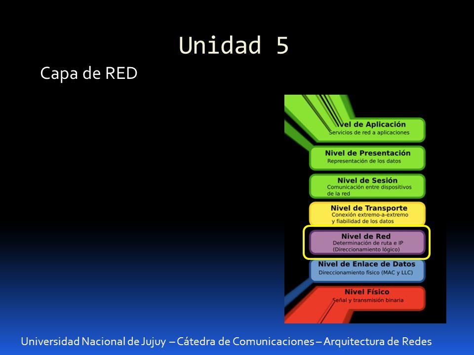 Unidad 5 Capa de RED.