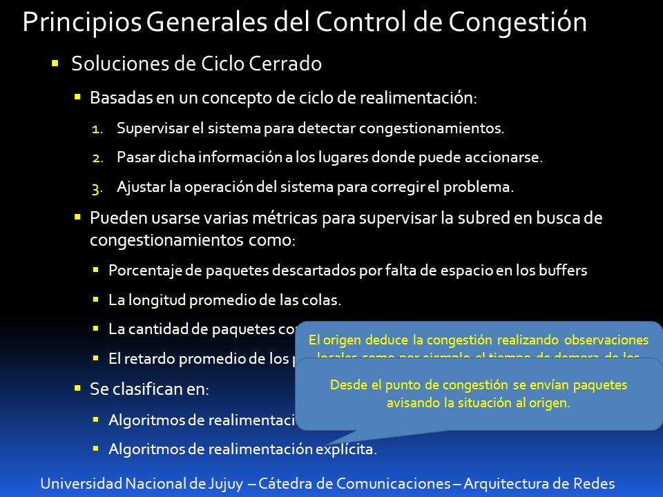 Principios Generales del Control de Congestión