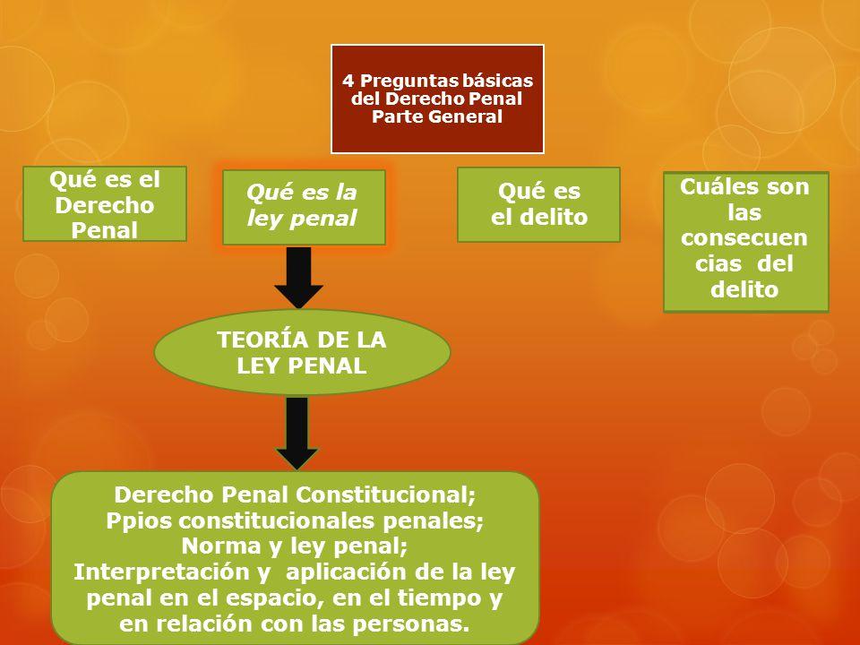 4 Preguntas básicas del Derecho Penal Parte General