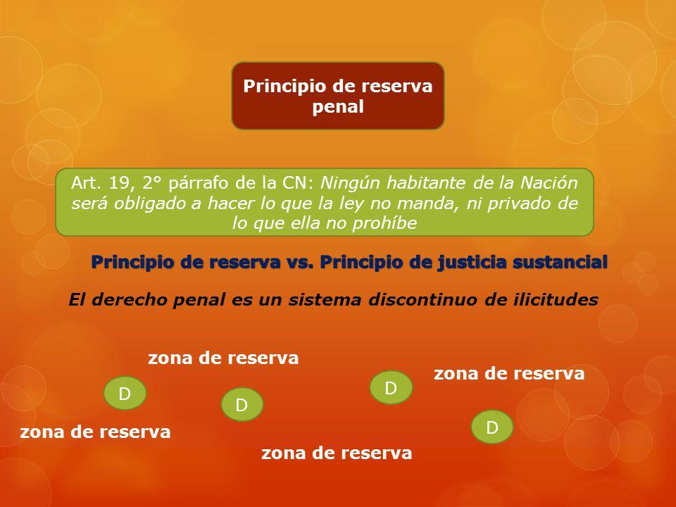 Principio de reserva penal