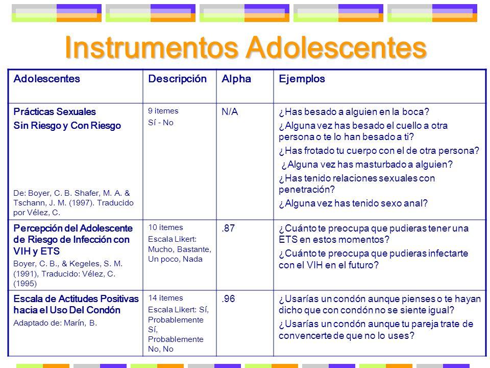 Instrumentos Adolescentes