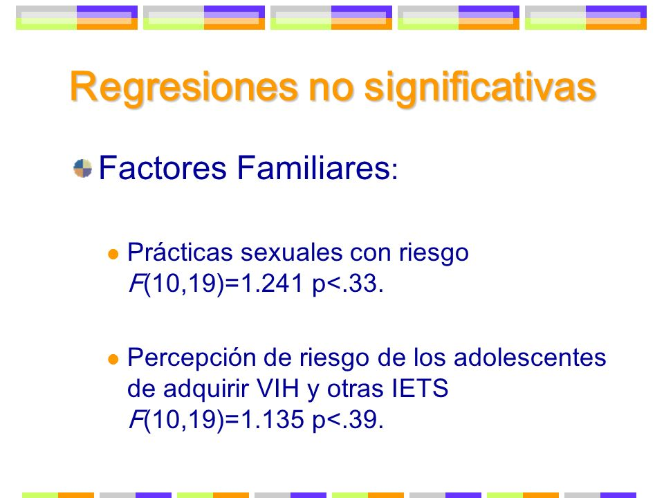 Regresiones no significativas