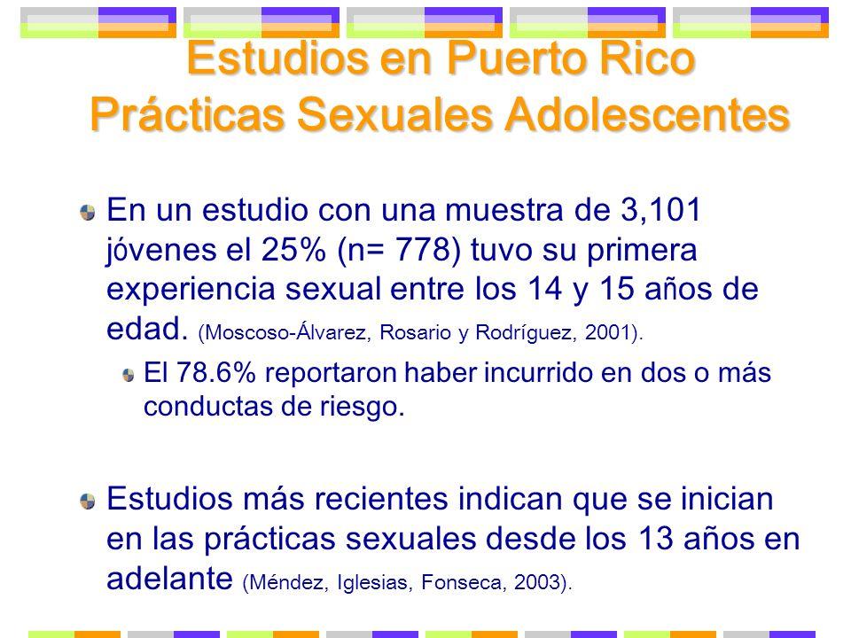 Estudios en Puerto Rico Prácticas Sexuales Adolescentes