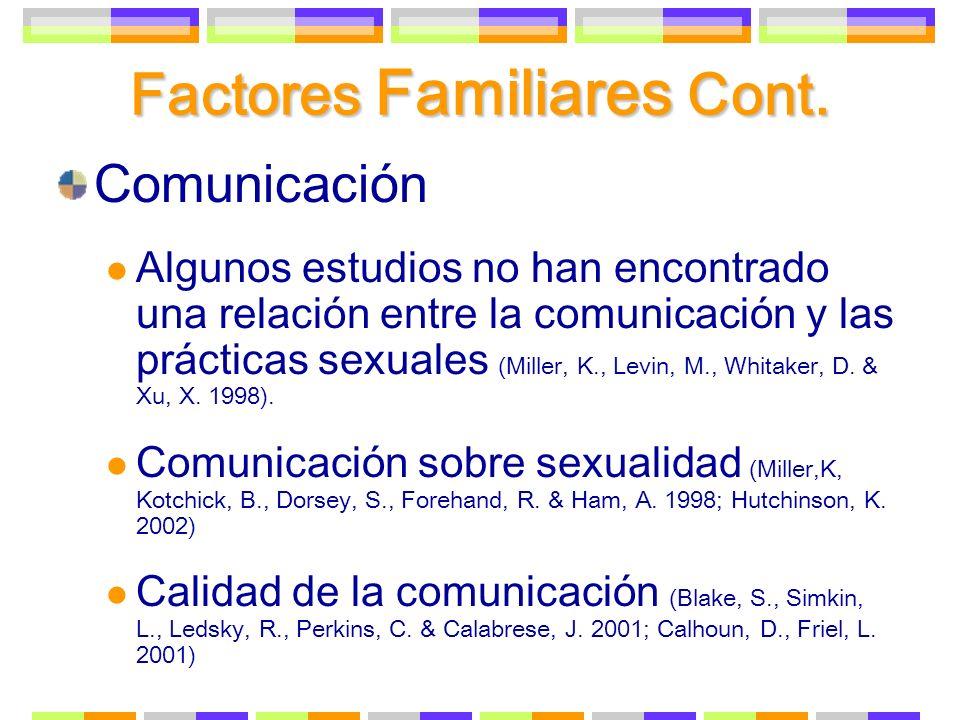 Factores Familiares Cont.