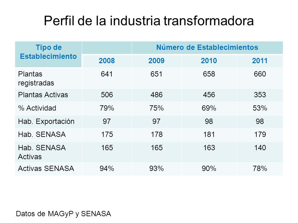 Perfil de la industria transformadora