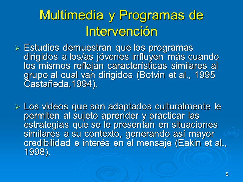 Multimedia y Programas de Intervención