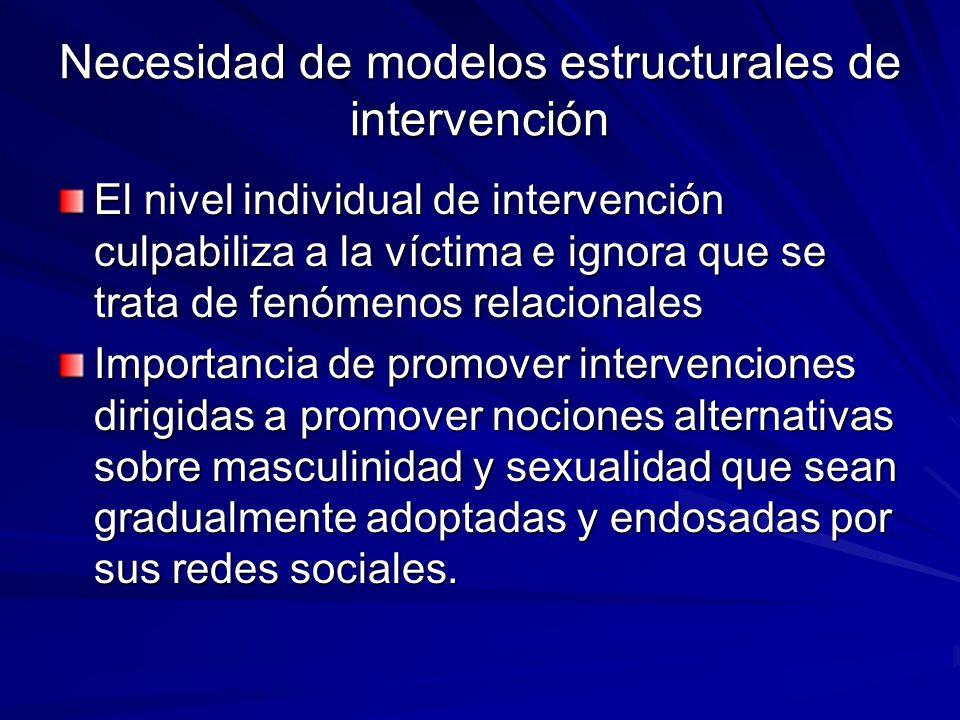 Necesidad de modelos estructurales de intervención