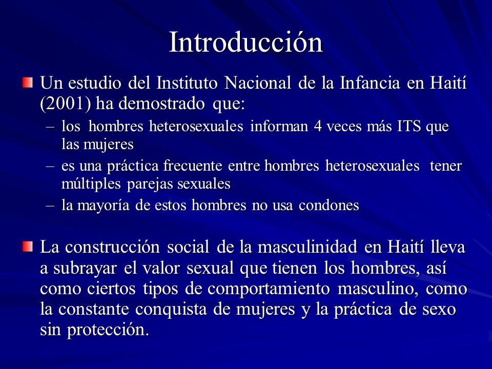 Introducción Un estudio del Instituto Nacional de la Infancia en Haití (2001) ha demostrado que: