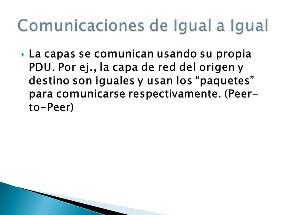 Comunicaciones de Igual a Igual