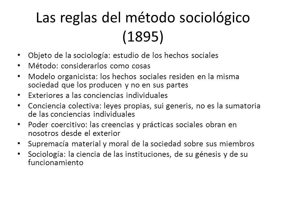Las reglas del método sociológico (1895)