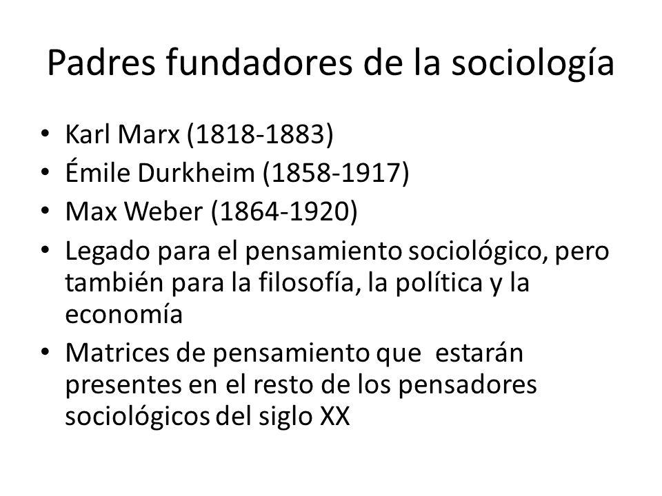 Padres fundadores de la sociología