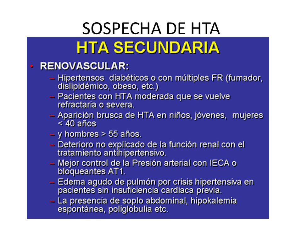 SOSPECHA DE HTA