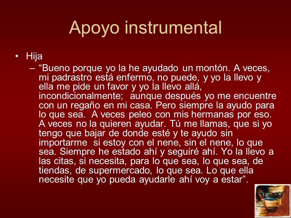 Apoyo instrumental Hija