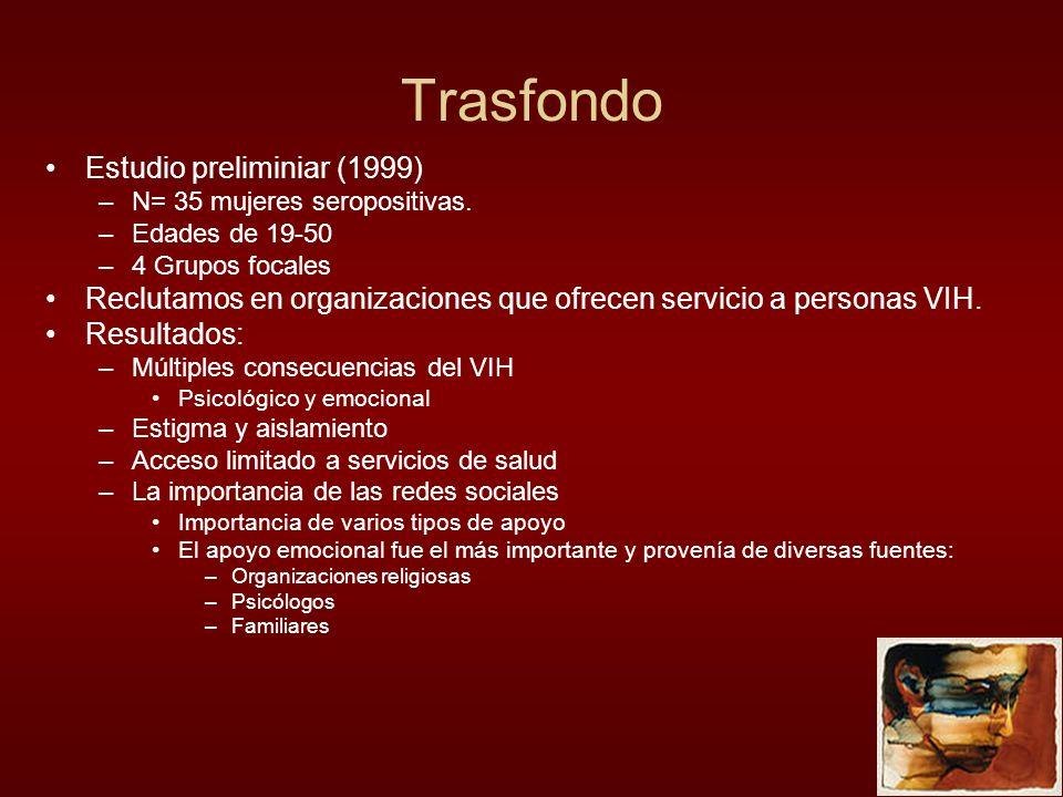 Trasfondo Estudio preliminiar (1999)