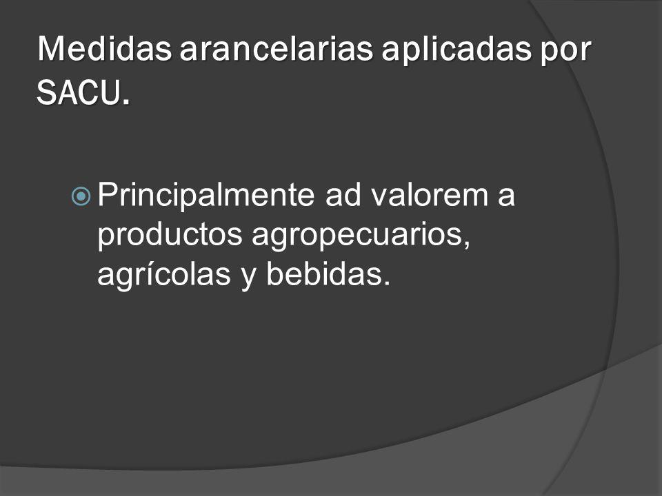 Medidas arancelarias aplicadas por SACU.