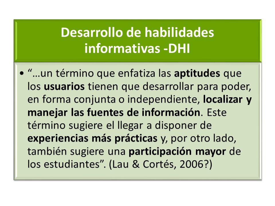 Desarrollo de habilidades informativas -DHI