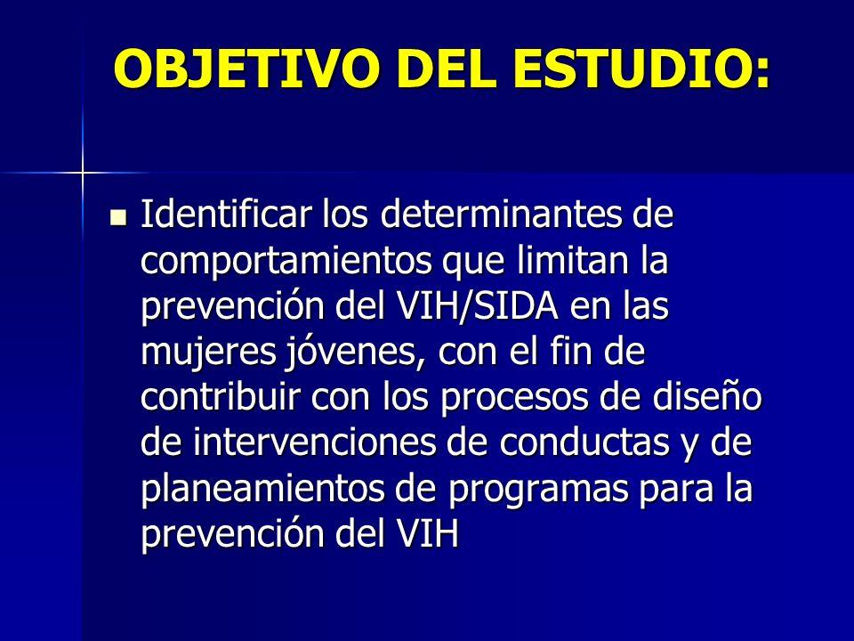 OBJETIVO DEL ESTUDIO: