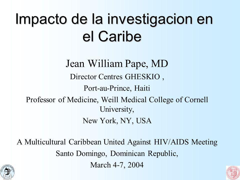 Impacto de la investigacion en el Caribe