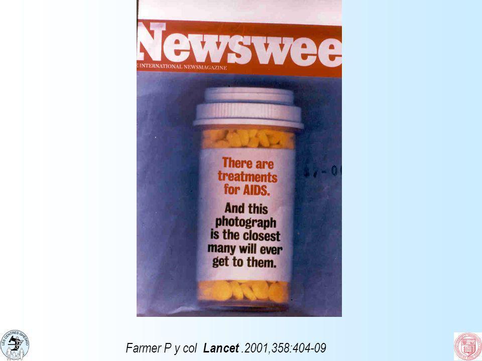 Farmer P y col Lancet .2001,358:404-09
