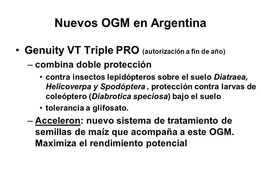 Nuevos OGM en Argentina