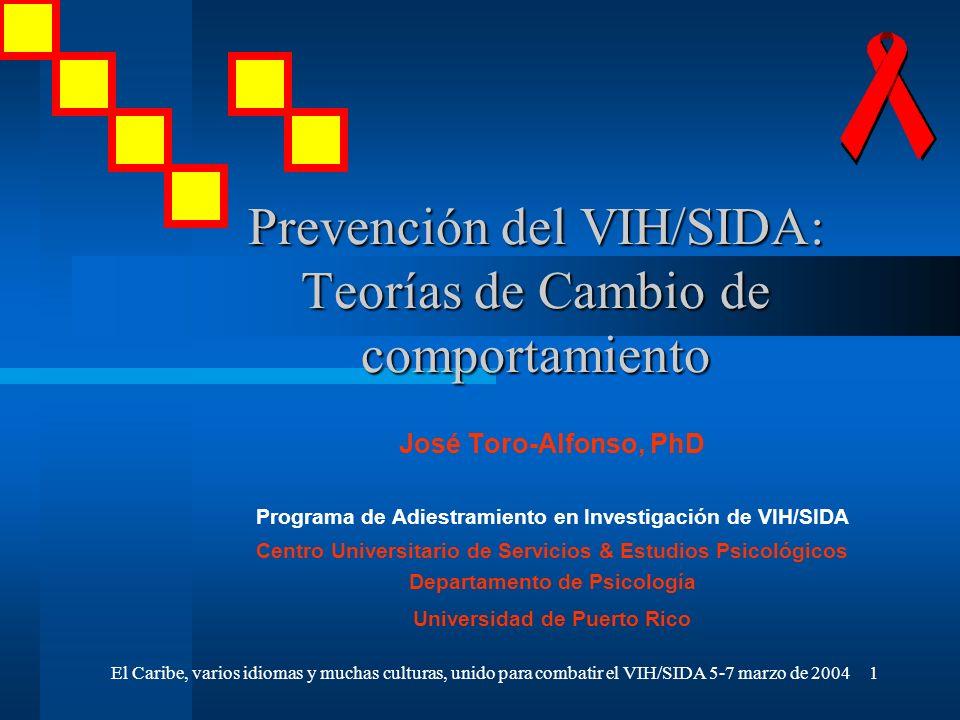 Prevención del VIH/SIDA: Teorías de Cambio de comportamiento