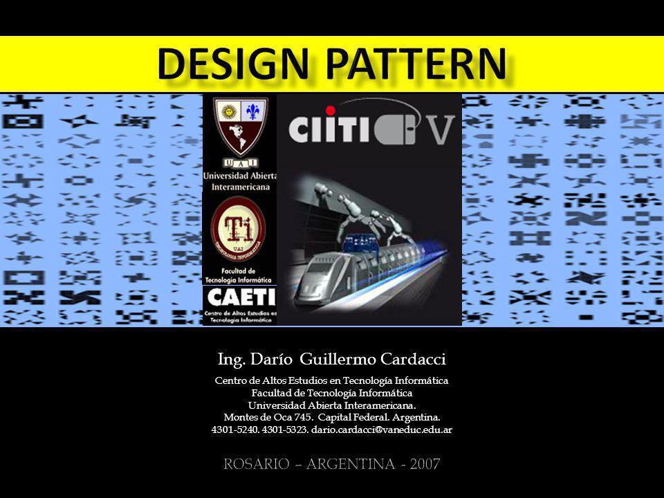 Design pattern Ing. Darío Guillermo Cardacci