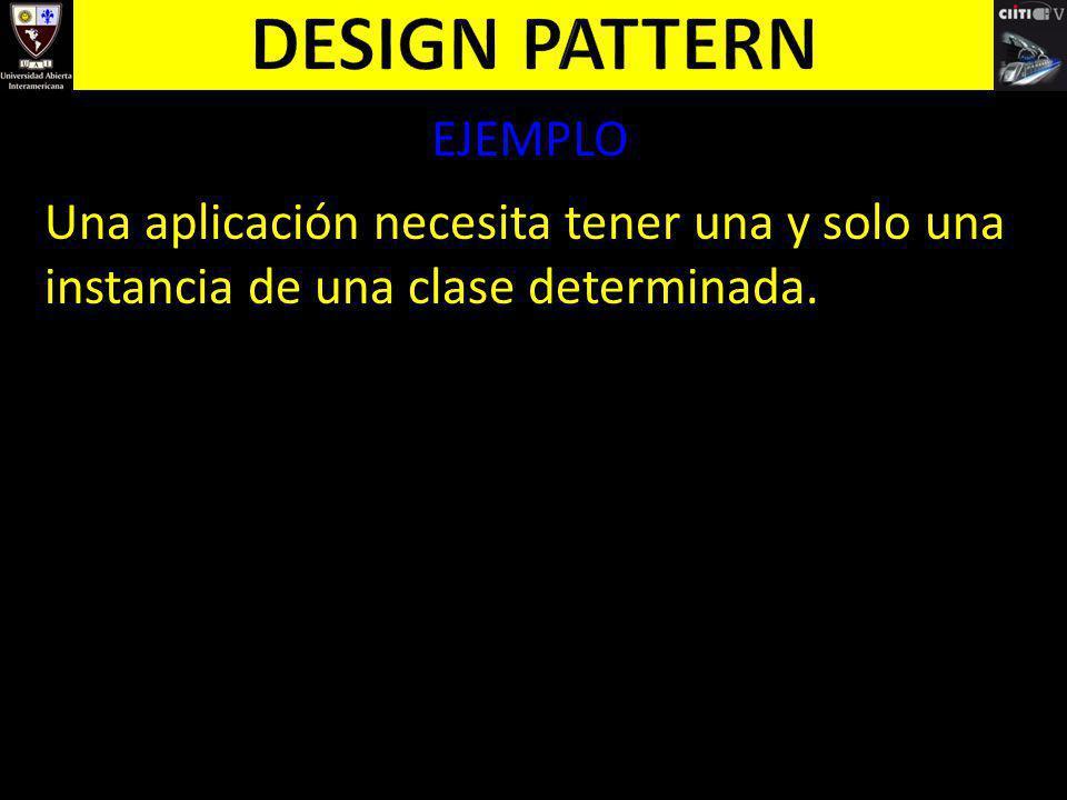 Design pattern EJEMPLO