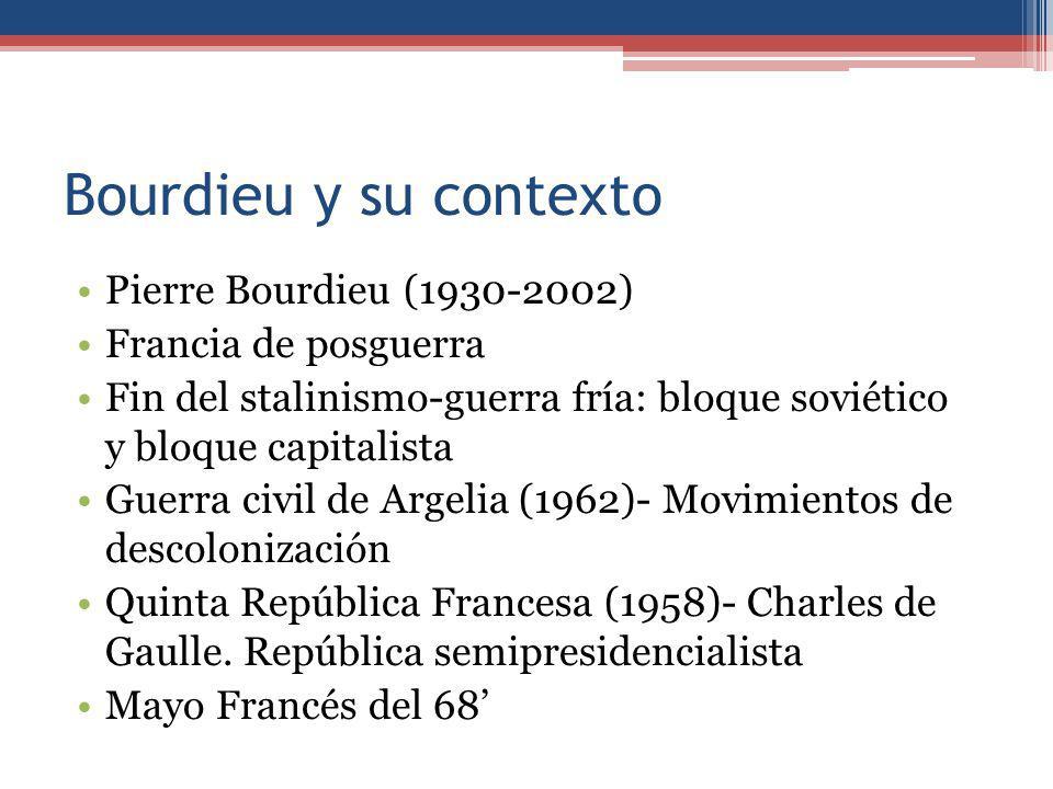Bourdieu y su contexto Pierre Bourdieu (1930-2002)