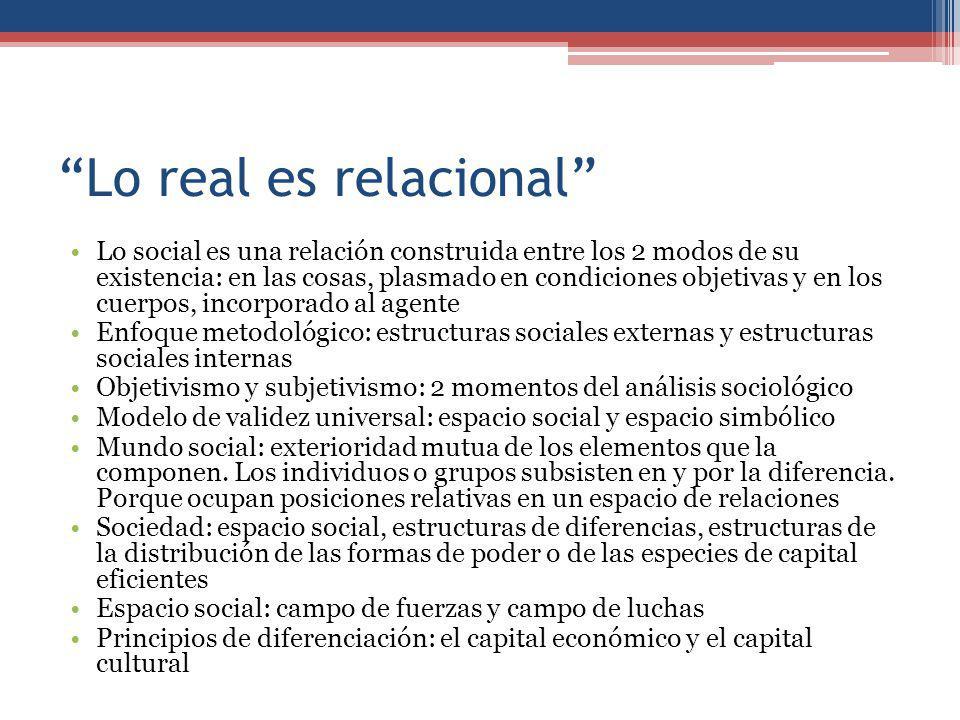 Lo real es relacional