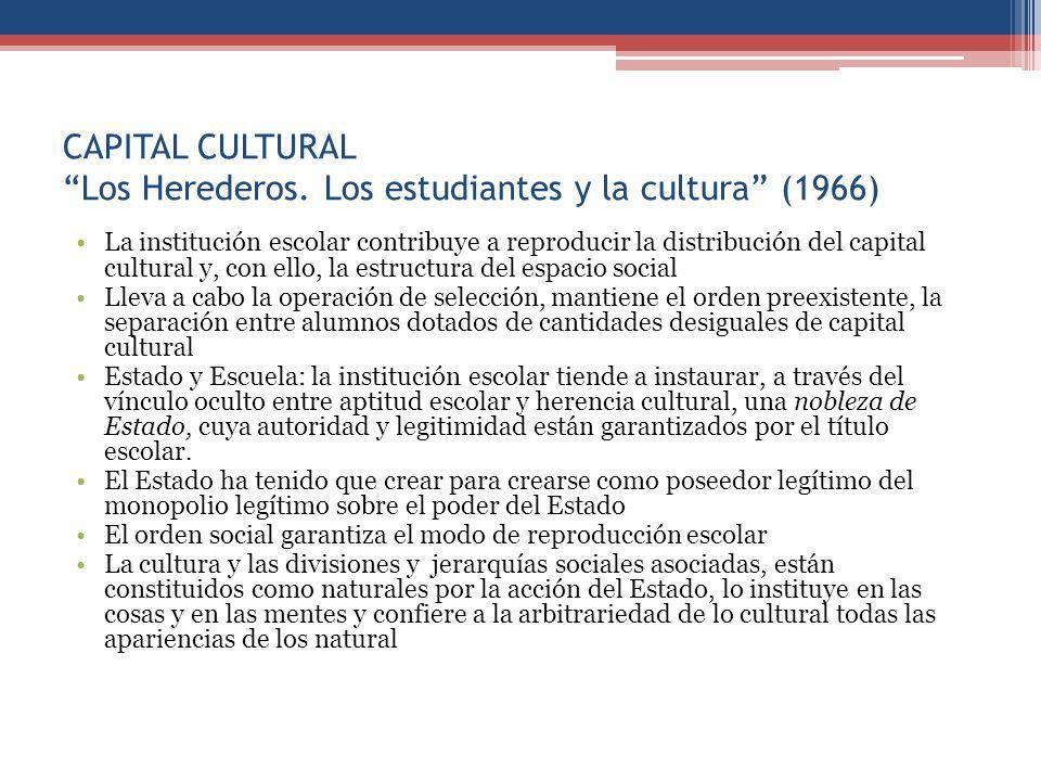 CAPITAL CULTURAL Los Herederos. Los estudiantes y la cultura (1966)