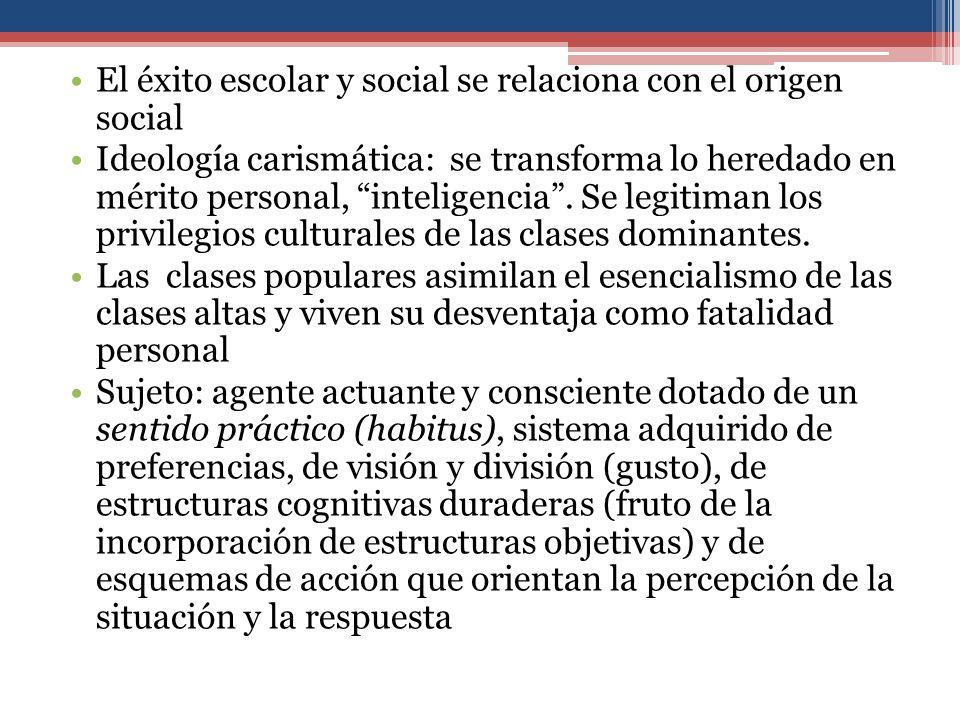 El éxito escolar y social se relaciona con el origen social