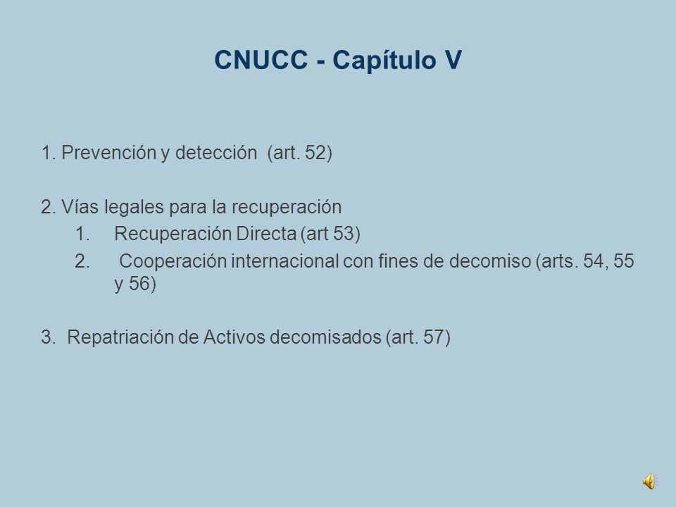 CNUCC - Capítulo V 1. Prevención y detección (art. 52)