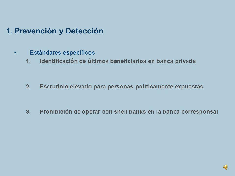 1. Prevención y Detección